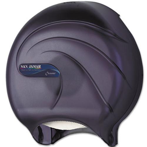 San Jamar Single JBT Tissue Dispenser  Oceans  10 1 4 x 5 5 8 x 12  Black Pearl (SAN R2090TBK)