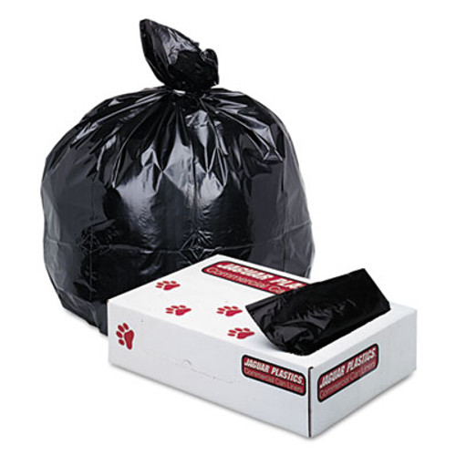Jaguar Plastics Low-Density Commercial Can Liners, 40-45gal, 1.70 mil, 40X46, Black, 100/Carton (JAG G4046HBL)
