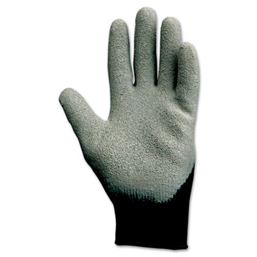 KleenGuard G40 Latex Coated Poly-Cotton Gloves  250 mm Length  Large Size 9  Gray  12 Pairs (KCC 97272)