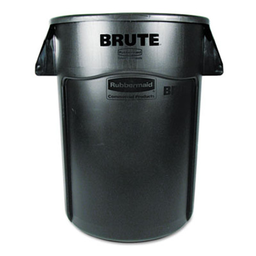 Rubbermaid Commercial Brute Vented Trash Receptacle  Round  44 gal  Black (RCP 2643-60 BLA)