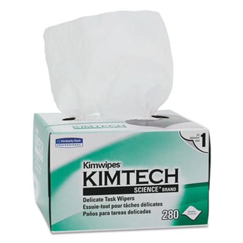 Kimtech Kimwipes Delicate Task Wipers  1-Ply  4 2 5 x 8 2 5  280 Box  30 Boxes Carton (KCC 34120)