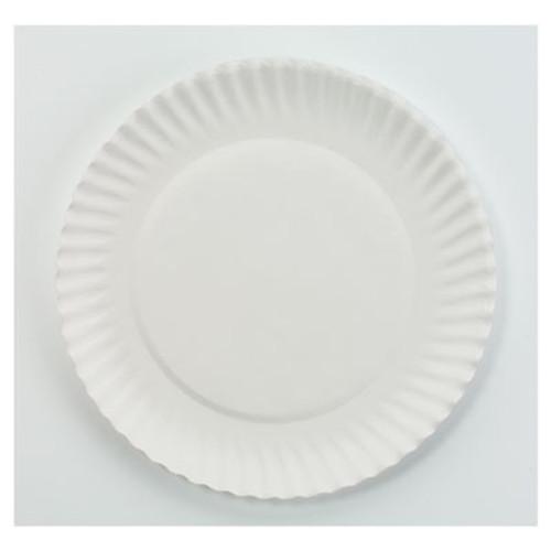 AJM Packaging Corporation White Paper Plates  6  dia  100 Pack  10 Packs Carton (AJMPP6GREWH)