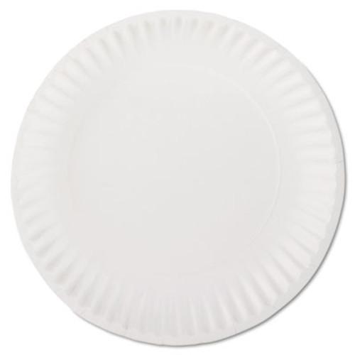 AJM Packaging Corporation White Paper Plates  9  Diameter  100 Pack  10 Packs Carton (AJMPP9GREWH)