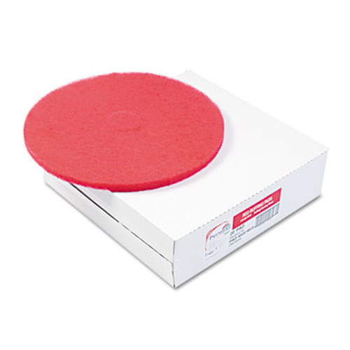 Boardwalk Buffing Floor Pads  12  Diameter  Red  5 Carton (PAD 4012 RED)