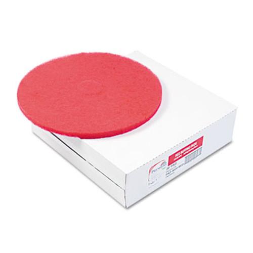 "Boardwalk Standard 12"" Diameter Buffing Floor Pads, Red, 5/Carton (PAD 4012 RED)"