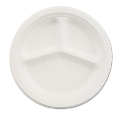 Chinet Paper Dinnerware  3-Comp Plate  10 1 4  dia  White  500 Carton (HUH VESTRY)