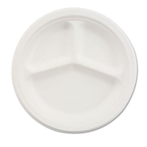 Chinet Paper Dinnerware  3-Comp Plate  9 1 4  dia  White  500 Carton (HUH VISTA)