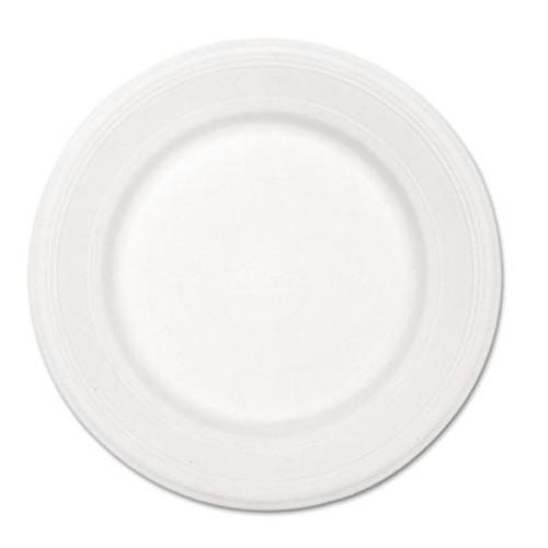 Chinet Paper Dinnerware  Plate  10 1 2  dia  White  500 Carton (HUH VENTURE)