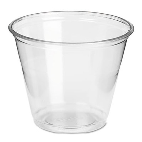 Dixie Clear Plastic PETE Cups, Cold, 9oz, Regular Size, 50/Pack, 20 Packs/Carton (DIX CP9A)