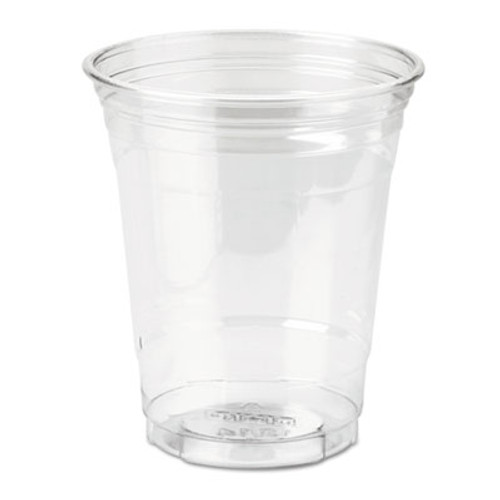 Dixie Clear Plastic PETE Cups, Cold, 12oz, WiseSize, 25/Pack, 20 Packs/Carton (DIX CP12DX)