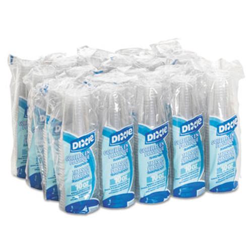 Dixie Clear Plastic PETE Cups, Cold, 10oz, WiseSize, 25/Pack, 20 Packs/Carton (DIX CP10DX)