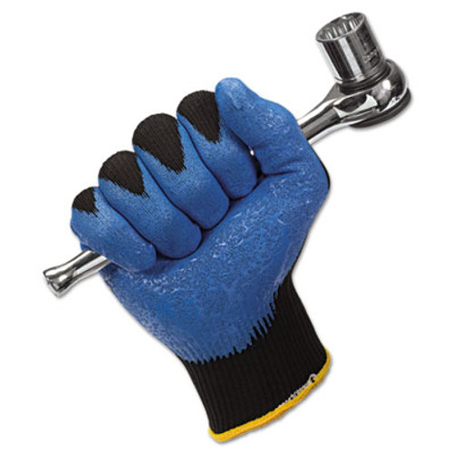 KleenGuard G40 Nitrile Coated Gloves  230 mm Length  Medium Size 8  Blue  12 Pairs (KCC 40226)