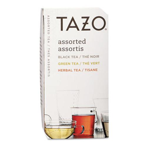 Tazo Assorted Tea Bags  Three Each Flavor  24 Box (TZO153966)