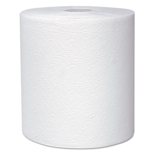 "Kleenex Hard Roll Towels, 8 x 600ft, 1 3/4"" Core dia, White, 6 Rolls/Carton (KCC 50606)"
