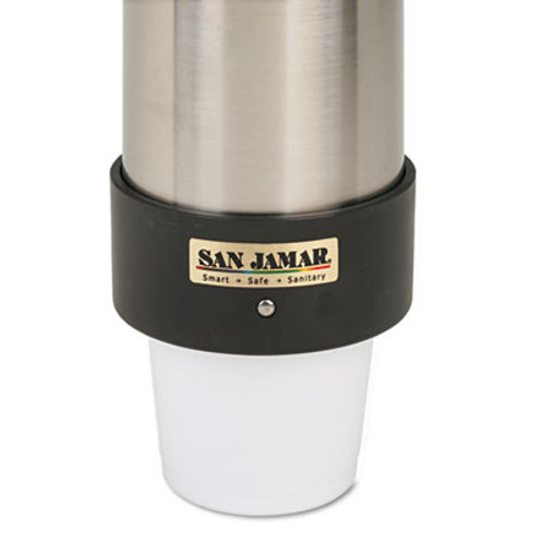 San Jamar Large Water Cup Dispenser w Removable Cap  Wall Mounted  Stainless Steel (SAN C3400P)
