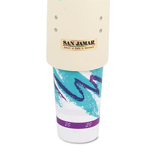 San Jamar Foam Cup Dispenser w Removable Cap  Pull-Type  Sand (SAN C4210PFSD)