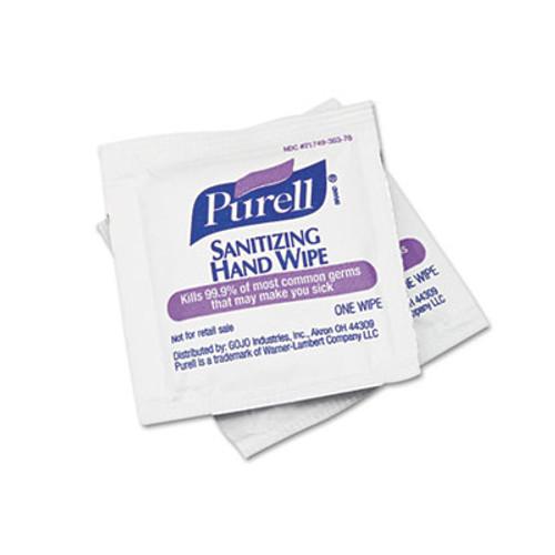 PURELL Sanitizing Hand Wipes  5 x 7  100 Box (GOJ902210BX)