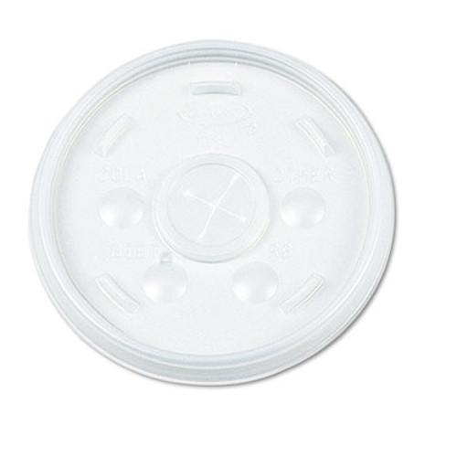 Dart Plastic Lids  for 16oz Hot Cold Foam Cups  Straw-Slot Lid  White  1000 Carton (DCC 16SL)