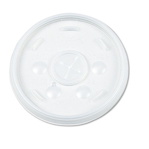 Dart Plastic Lids  for 16oz Hot Cold Foam Cups  Straw-Slot Lid  White  1000 Carton (DCC 16SL)