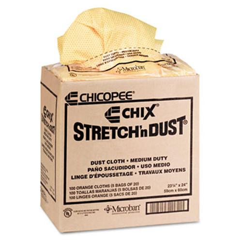 Chix Stretch 'n Dust Cloths  23 1 4 x 24  Orange Yellow  20 Bag  5 Bags Carton (CHI 0416)