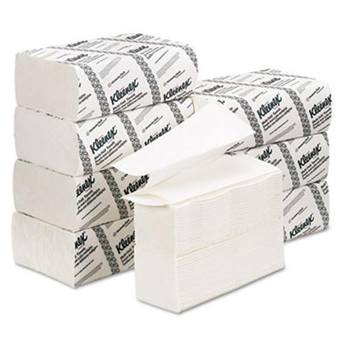 Kleenex Multi-Fold Paper Towels, 9 1/5 x 9 2/5, White, 150/Pack, 8 Packs/Carton (KCC 02046)