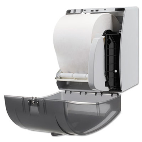 Georgia Pacific Hygienic Push-Paddle Roll Towel Dispenser, Translucent Smoke (GPC 543-38)