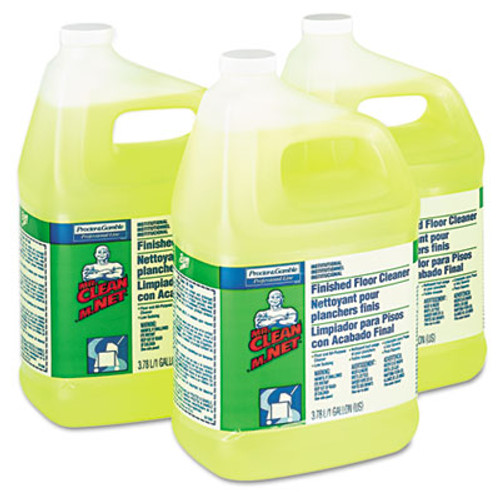 Mr. Clean Finished Floor Cleaner  Lemon Scent  One Gallon Bottle  3 Carton (PGC 02621)