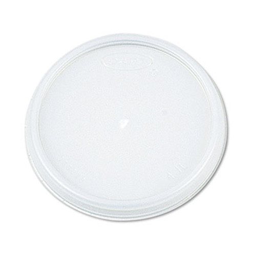 Dart Plastic Lids, for 12oz Hot/Cold Foam Cups, Vented, 1000/Carton (DCC 12JL)