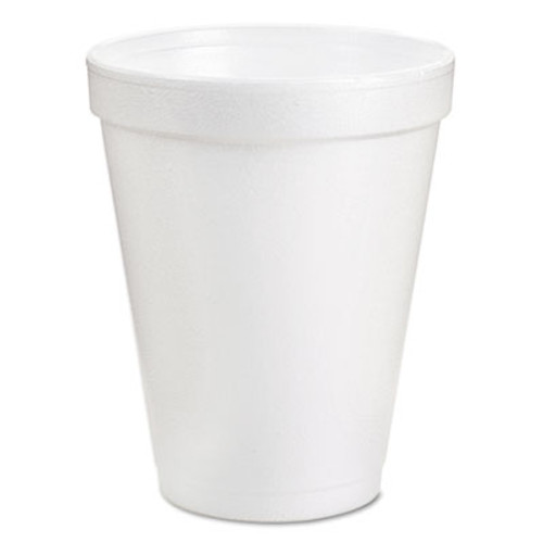 Dart Foam Drink Cups  8oz  White  25 Bag  40 Bags Carton (DCC 8J8)