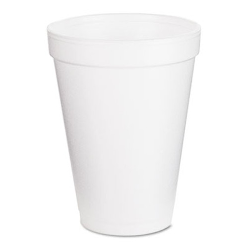 Dart Foam Drink Cups  12oz  White  25 Bag  40 Bags Carton (DCC 12J12)