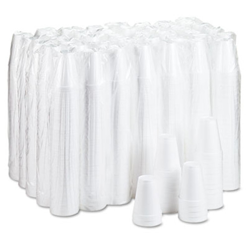 Dart Foam Drink Cups, 12oz, White, 25/Bag, 40 Bags/Carton (DCC 12J12)