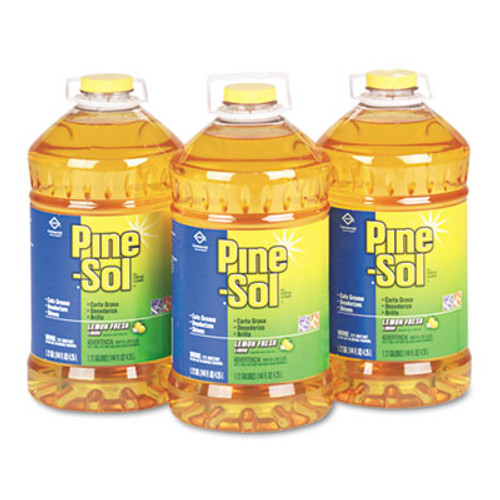 Pine-Sol All Purpose Cleaner  Lemon Fresh  144 oz Bottle  3 Carton (CLO 35419)