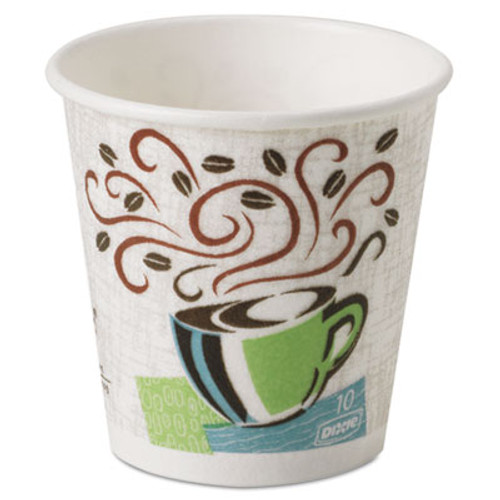 Dixie Hot Cups  Paper  10oz  Coffee Dreams Design  500 Carton (DIX 5310DX)