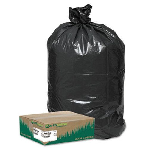 Earthsense Commercial Recycled Large Trash and Yard Bags, 33gal, .9mil, 32.5 x 40, Black, 80/Carton (WEB RNW1TL80)