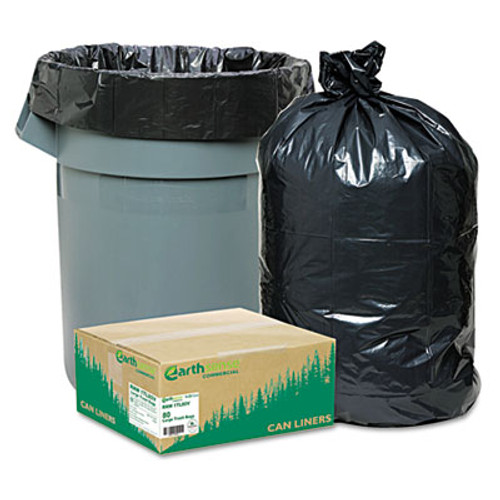 Earthsense Commercial Linear Low Density Large Trash and Yard Bags  33 gal  0 9 mil  32 5  x 40   Black  80 Carton (WEB RNW1TL80)