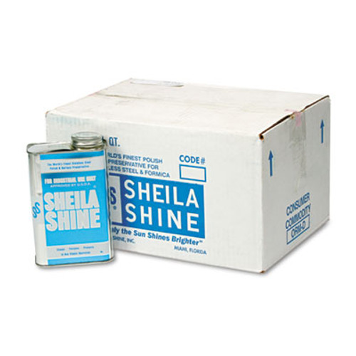Sheila Shine Stainless Steel Cleaner & Polish, 1qt Can, 12/Carton (SSI 2)