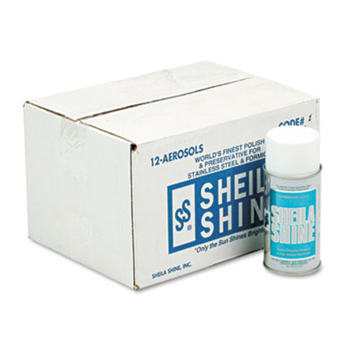 Sheila Shine Stainless Steel Cleaner   Polish  10oz Aerosol  12 Carton (SSI 1)