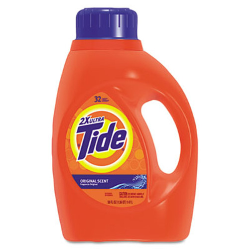 Tide Ultra Liquid Tide Laundry Detergent, 50 oz Bottle, 6/Carton (PGC 13878)
