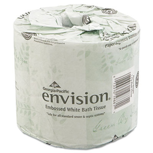 Georgia Pacific Professional Bathroom Tissue  Septic Safe  2-Ply  White  550 Sheets Roll  80 Rolls Carton (GPC 198-80/01)