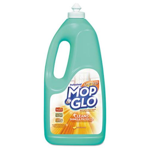 Professional MOP & GLO Triple Action Floor Shine Cleaner  Fresh Citrus Scent  64oz Bottles  6 Carton (REC 74297)