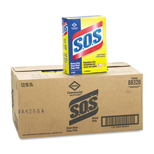 S.O.S. Steel Wool Soap Pad  15 Pads Box (CLO 88320)