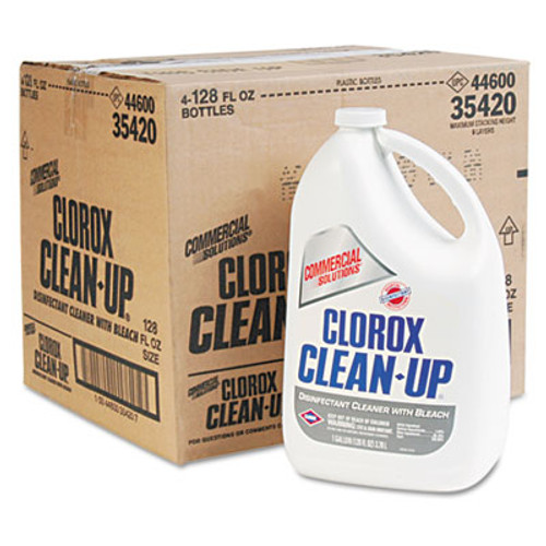 Clorox Clean-Up Disinfectant Cleaner with Bleach  Fresh  128 oz Refill Bottle  4 Carton (CLO 35420)