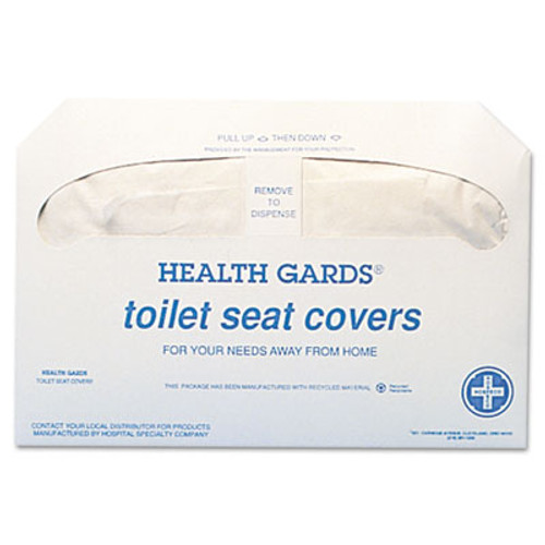 HOSPECO Health Gards Toilet Seat Covers, White, 250 Covers/Pack, 20 Packs/Carton (HOS HG-5000)