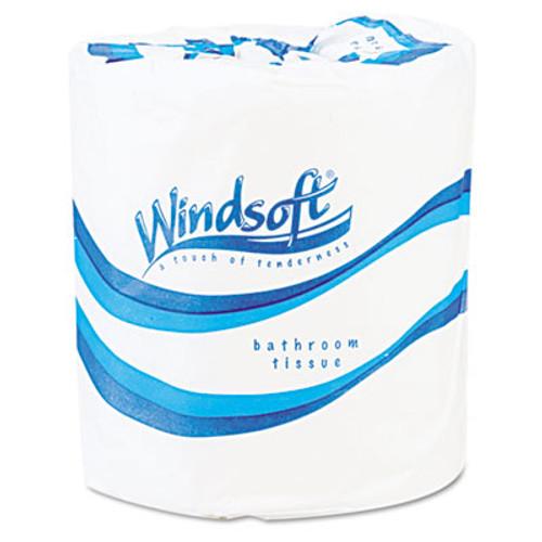 Windsoft Single Roll Bath Tissue, 500 Sheets/Roll, 96 Rolls/Carton (WIN 2200)