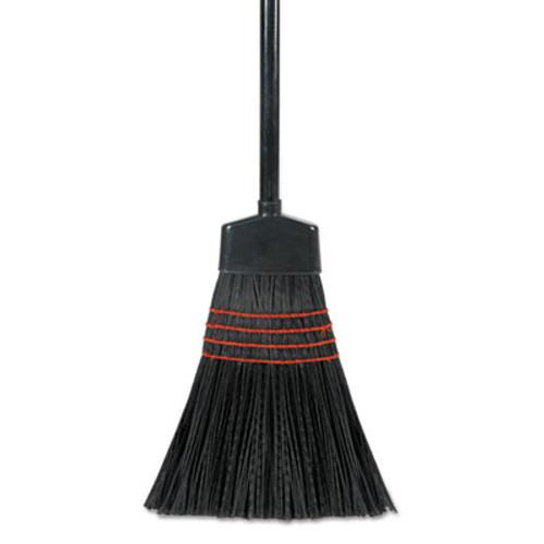 Boardwalk Maid Broom  Plastic Bristles  Wood Handle  54  Long  1 Dozen Carton (UNS 916P)