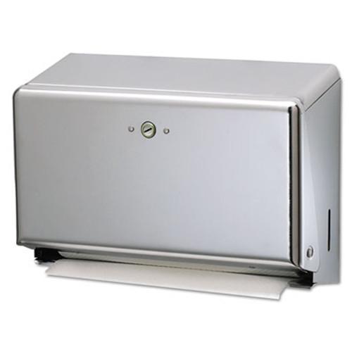 San Jamar Mini C-Fold Multifold Towel Dispenser  Chrome  11 1 8 x 3 7 8 x 7 7 8 (SAN T1950XC)