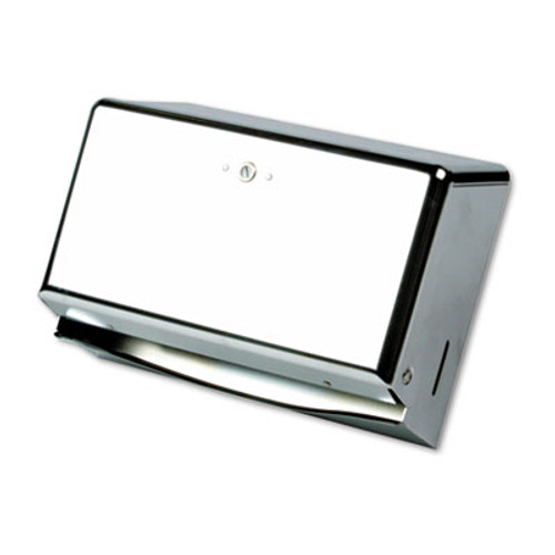 San Jamar Mini C-Fold Multifold Towel Dispenser  Chrome  11 1 8 x 3 7 8 x 7 7 8 (SAN T1950XC)