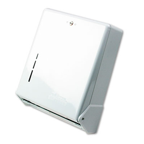 San Jamar True Fold C-Fold Multifold Paper Towel Dispenser  White  11 5 8 x 5 x 14 1 2 (SAN T1905WH)