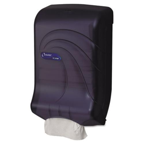 San Jamar Ultrafold Multifold C-Fold Towel Dispenser  Oceans  Black  11 3 4 x 6 1 4 x 18 (SAN T1790TBK)