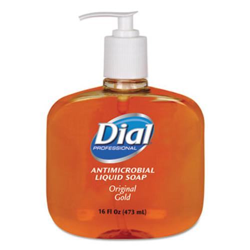 Dial Professional Gold Antimicrobial Hand Soap  Floral Fragrance  16 oz Pump Bottle  12 Carton (DIA 80790)